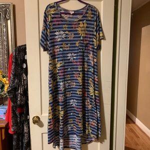 Lularoe Soft Comfy Flower Print Carly Hi Low Dress